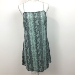 TDC Snake Print Sequin Dress